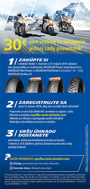 Motocyklová promo akcia od Michelinu !!