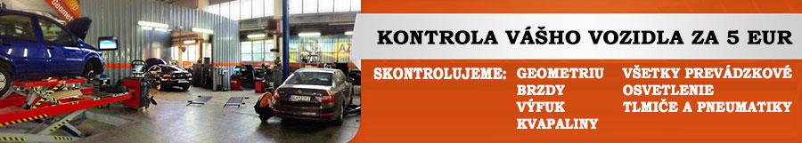 Kontrola vášho vozidla za 5 EUR