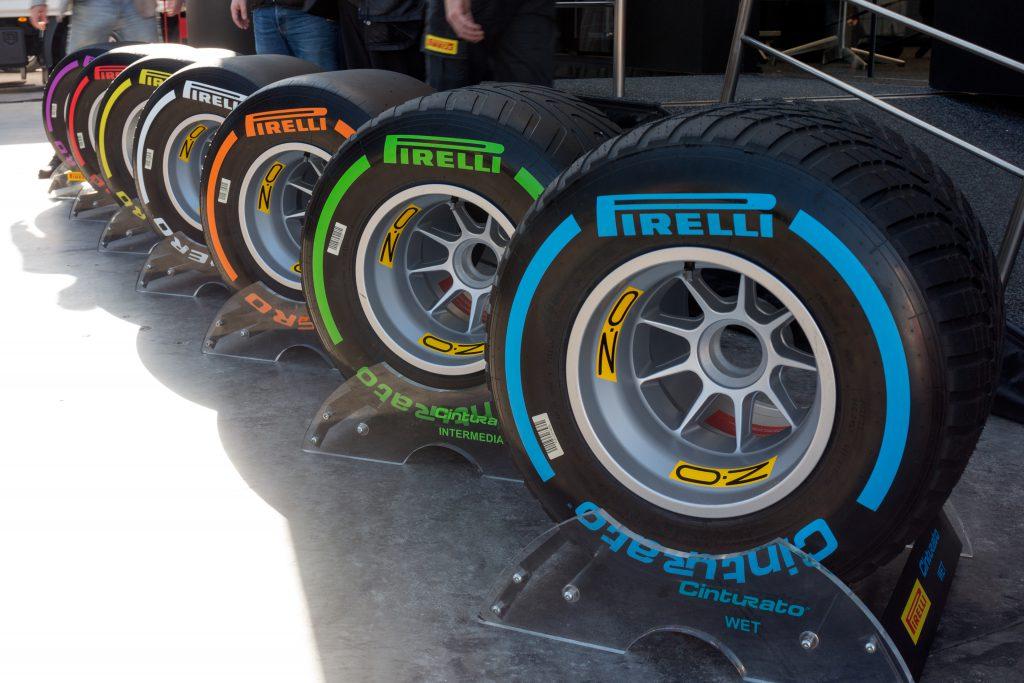 Nabídka pneumatik Pirelli pro formuli 1