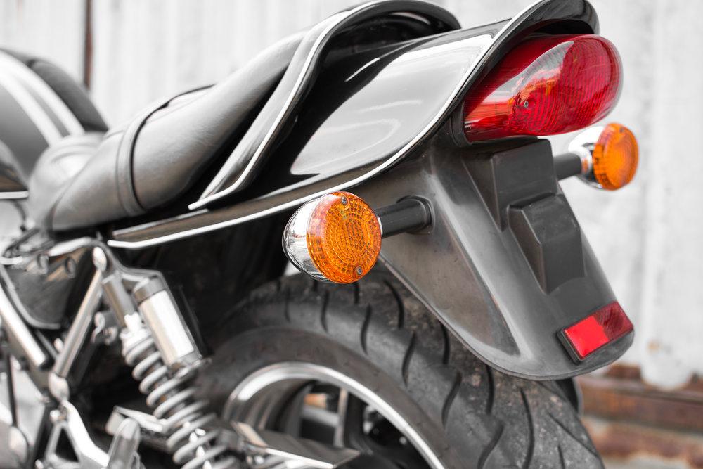 Umiestnenie blinkrov na motorku