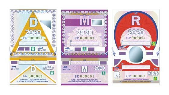 Desaťdňová, mesačná a ročná diaľničná známka 2020