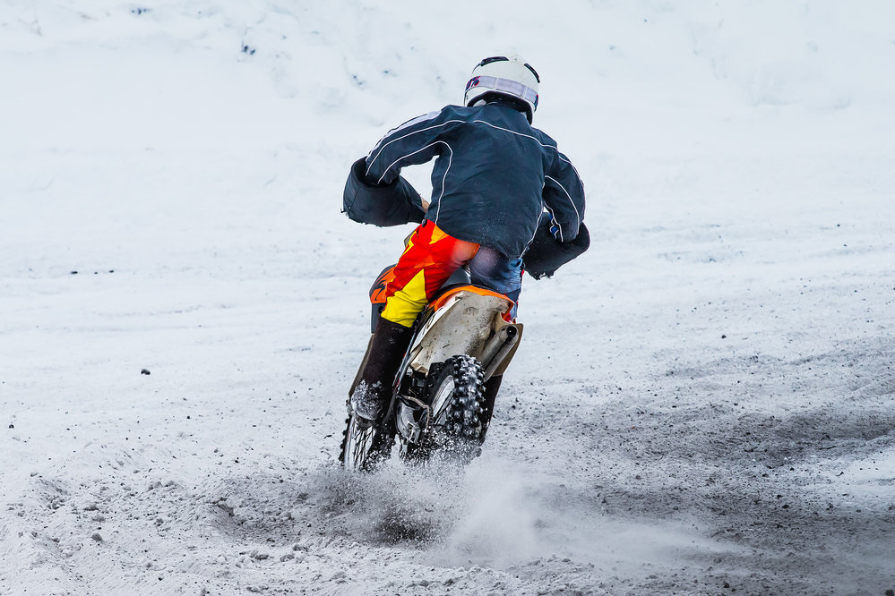 Motocykel v zime