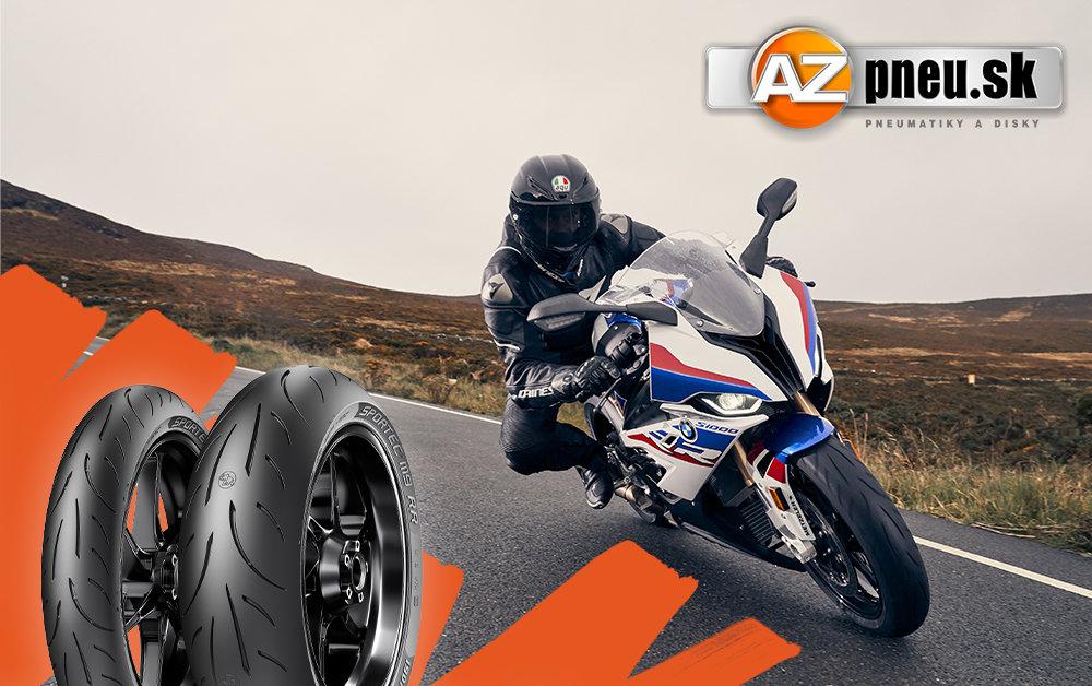 Motorka so športovými pneumatikami Metzeler Sportec M9 RR