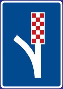 Dopravná značka Úniková zóna