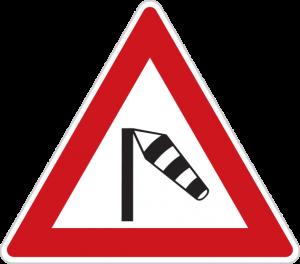 Dopravná značka Bočný vietor