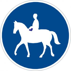 Dopravná značka Cestička pre jazdcov na zvierati