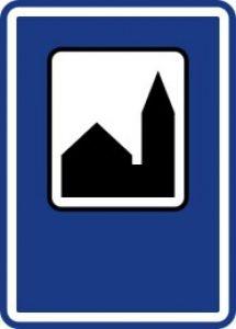 Dopravná značka Kaplnka pri ceste