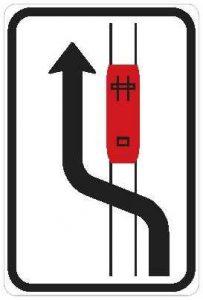Dopravná značka Obchádzka električky