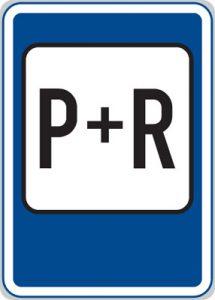 Dopravná značka Parkovisko P+R