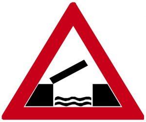 Dopravná značka Pohyblivý most