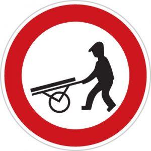 Dopravná značka Zákaz vjazdu ručných vozíkov
