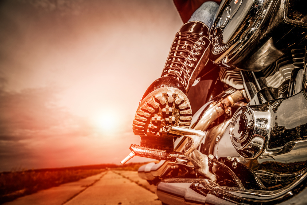 Motorkárska topánky na pedáli motorky