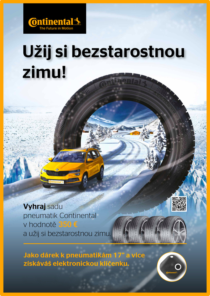 Vyhraj súpravu zimných pneumatík Continental