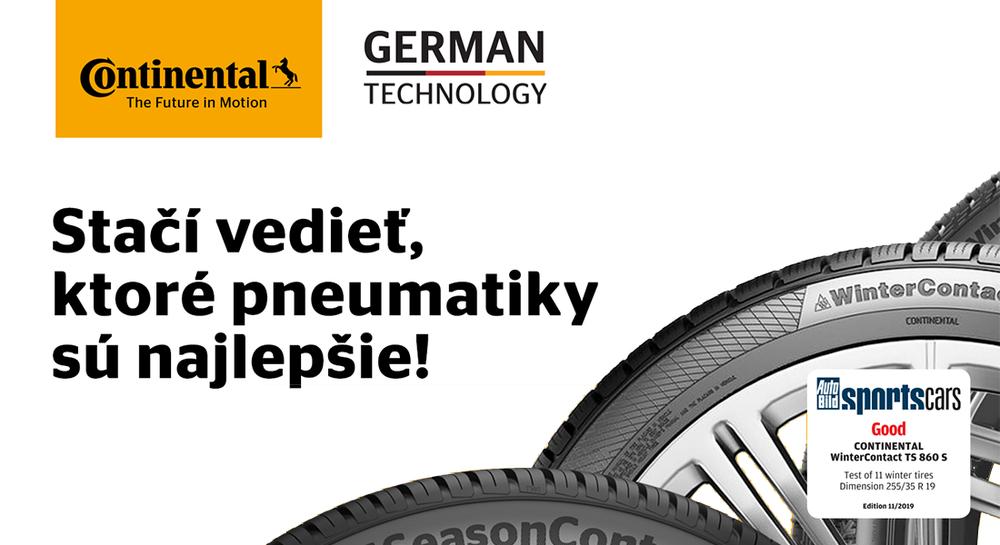Continental pneu
