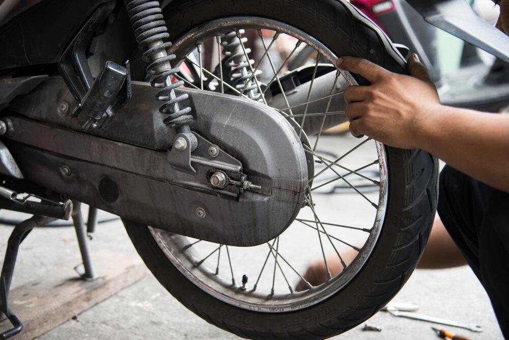 Zadné koleso motorky