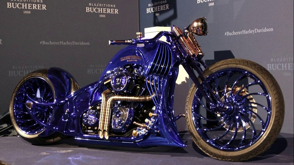 Motocykel Harley-Davidson Blue Edition