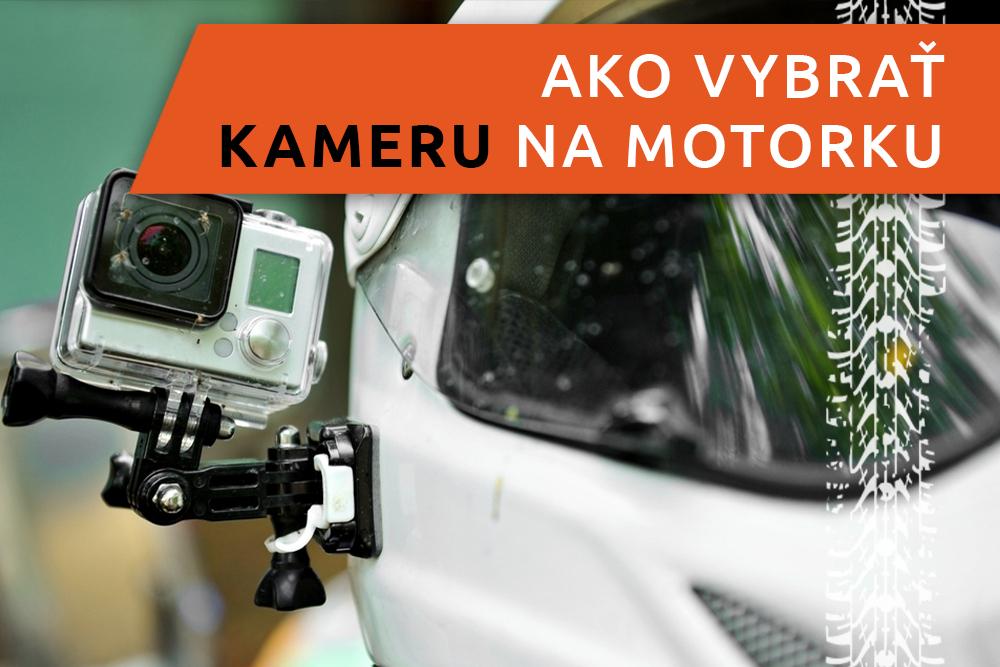 Kamera pripevnená na motorke