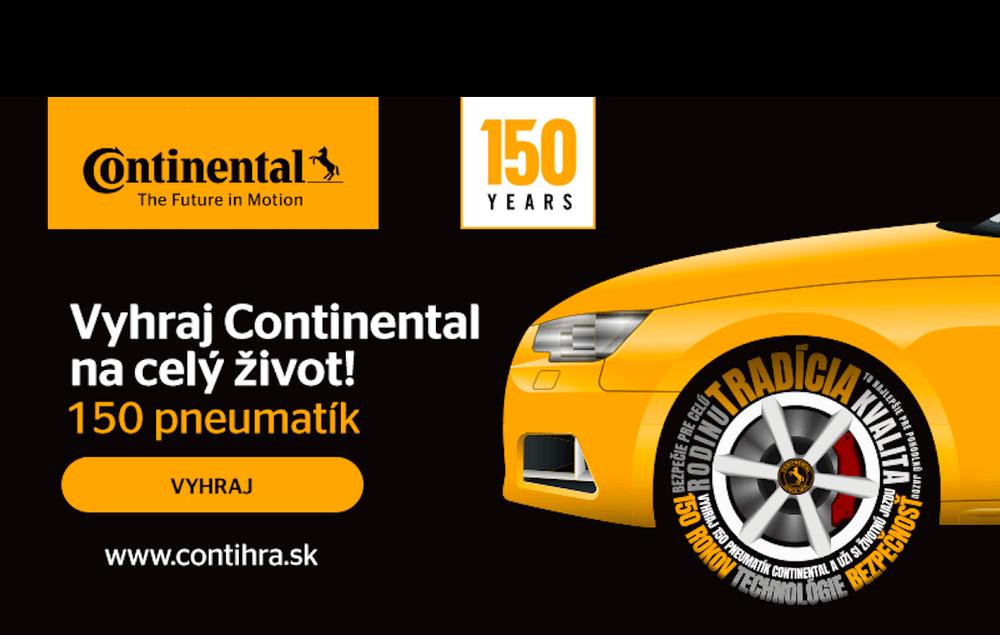 Vyhraj 150 pneumatík Continental