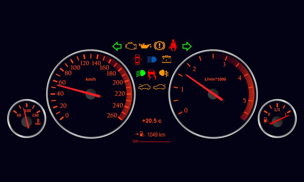 Kontrolky na palubnej doske auta