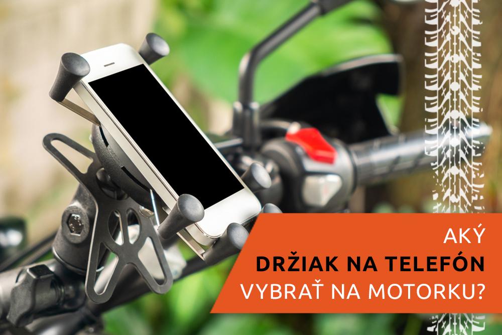 Držiak telefónu na riadidlách motocykla